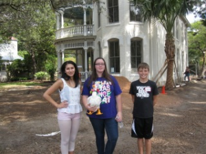 Emily Margaret accompanied the older Junior Associates as they checked out two renovation projects underway in King William